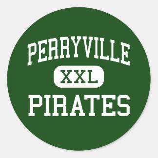 Perryville - Pirates - High - Perryville Missouri Classic Round Sticker