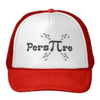 Pers-PI-re - Funny Pi Slogan Mesh Hats