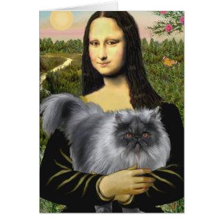 Persa azul del humo de Mona Lisa Felicitaciones