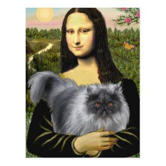 Persa azul del humo de Mona Lisa Postal