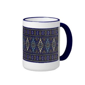 Persa azul taza de dos colores