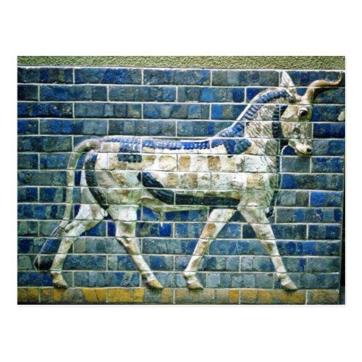 Persa Bull - ladrillo esmaltado, Estambul Postales