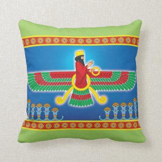 Persa Faravahar del Zoroastrian Cojín Decorativo