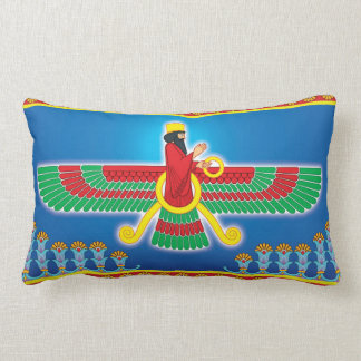 Persa Faravahar del Zoroastrian Cojín Lumbar