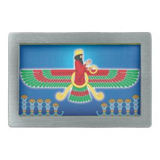 Persa Faravahar del Zoroastrian Hebilla Cinturón Rectangular
