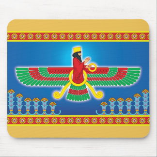Persa Faravahar del Zoroastrian Mousepad