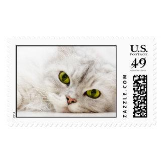 Persa sombreado plata timbre postal