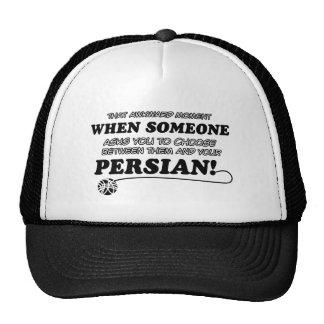 persan design trucker hat