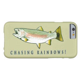 Persecución de la trucha arco iris funda para iPhone 6 barely there