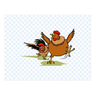 Persecución de pollos postales