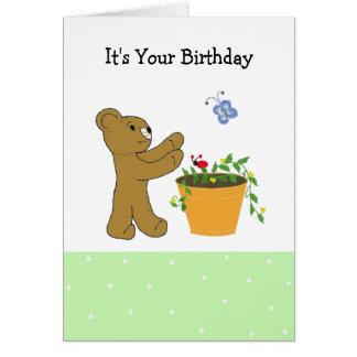 Persecución de un diseño del cumpleaños de la tarjeta de felicitación