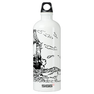 persecución de un slaver. botella de agua