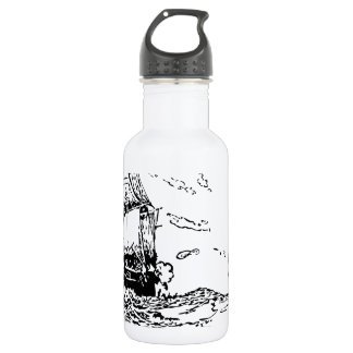 persecución de un slaver. botella de agua de acero inoxidable