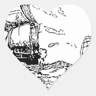 persecución de un slaver. pegatina en forma de corazón