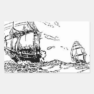 persecución de un slaver. pegatina rectangular