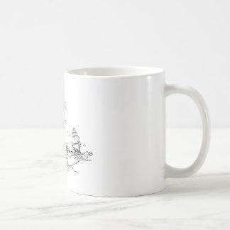 persecución de un slaver. taza de café