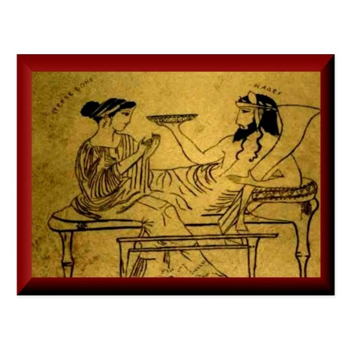 Persefone y Hades Tarjetas Postales
