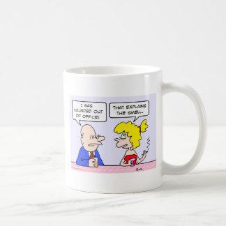 perseguido fuera de oficina explica el olor taza de café