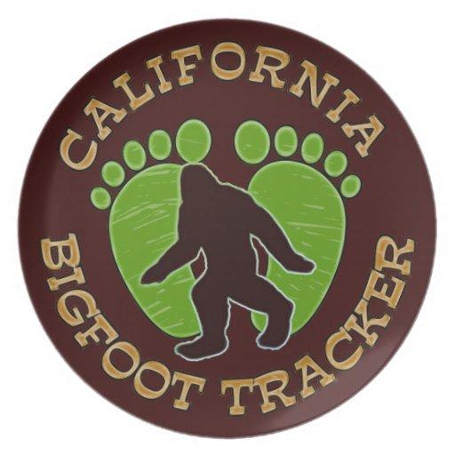 Perseguidor de California Bigfoot Plato Para Fiesta