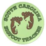 Perseguidor de Carolina del Sur Bigfoot Plato De Cena