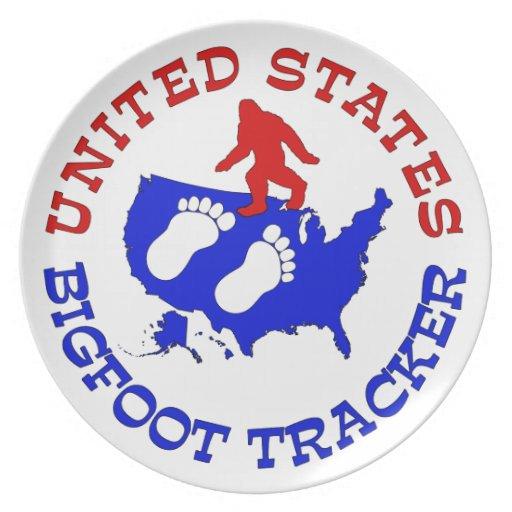 Perseguidor de Estados Unidos Bigfoot Plato De Comida