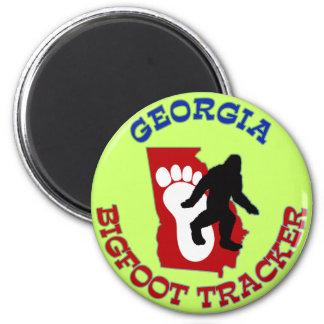 Perseguidor de Georgia Bigfoot Imán Redondo 5 Cm