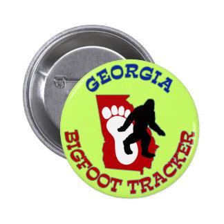 Perseguidor de Georgia Bigfoot Pin Redondo De 2 Pulgadas