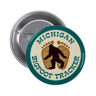 Perseguidor de Michigan Bigfoot Pin Redondo De 2 Pulgadas