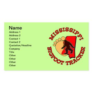 Perseguidor de Mississippi Bigfoot Tarjetas De Visita