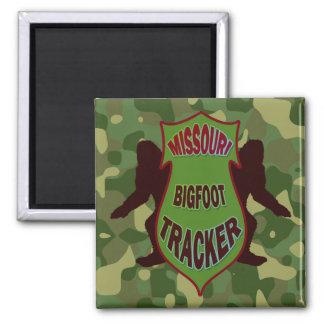 Perseguidor de Missouri Bigfoot Imán Cuadrado