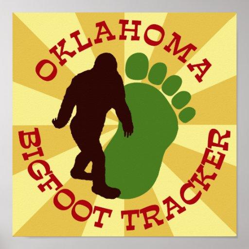 Perseguidor de Oklahoma Bigfoot Póster