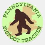 Perseguidor de Pennsylvania Bigfoot Pegatina Redonda