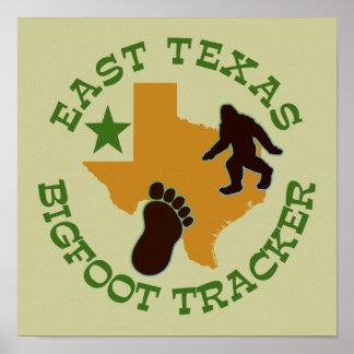 Perseguidor del este de Tejas Bigfoot Posters