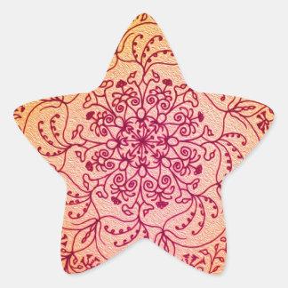 Perseid Mandala Star Sticker