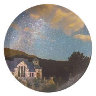 Perseid Meteor Shower and Chapel On The Plate