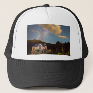 Perseid Meteor Shower and Chapel On The Trucker Hat