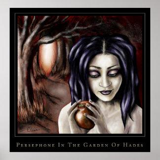 persephone en el jardín de hades póster