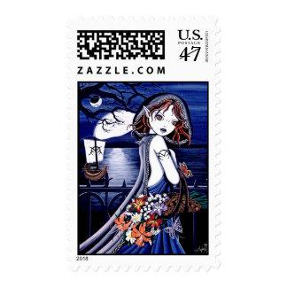 """Persephone"" Gothic River Styx Fairy Art Postage"