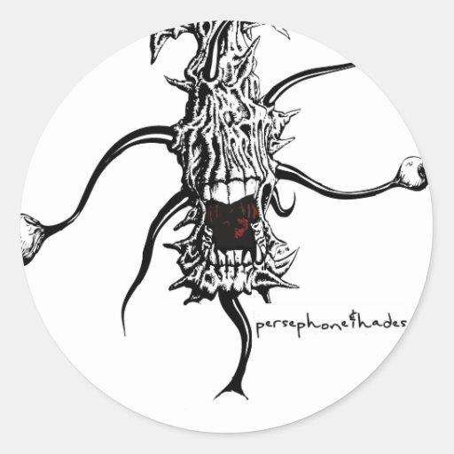 persephone&hades 'eye monster' classic round sticker