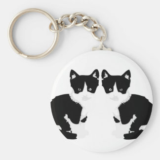 persephone&hades 'tuxedo cat' key chain