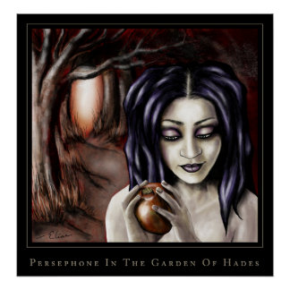 persephone in the garden of hades poster