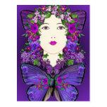 Persephone y postal de la mariposa