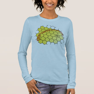 Persephones Bee Comb Long Sleeve T-Shirt