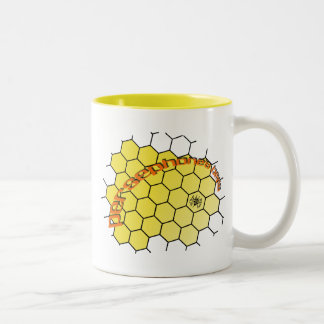 persephonesbees-yellow-comb Two-Tone coffee mug
