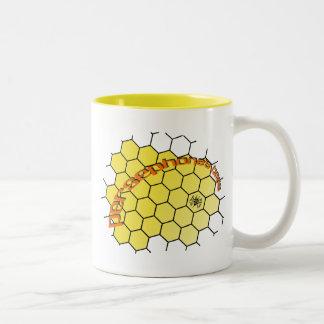 persephonesbees-yellow-comb Two-Tone coffee mug