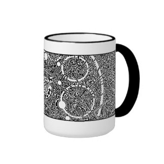 'Perseus Amongst the Spheres' (crop section) Ringer Mug