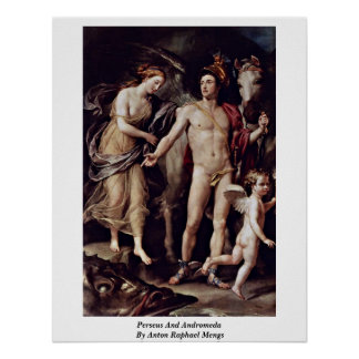 Perseus And Andromeda By Anton Raphael Mengs Posters