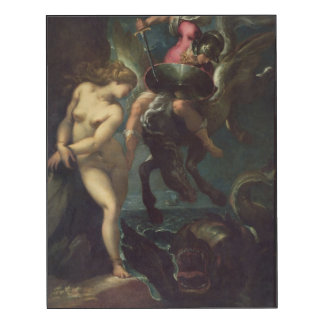 Perseus and Andromeda, c.1610 (oil on canvas) Wood Wall Art