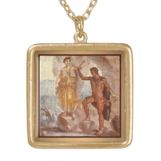 Perseus and Andromeda Gold Plated Necklace