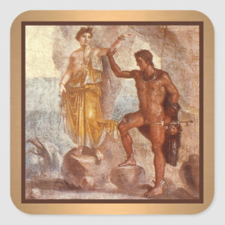Perseus and Andromeda Square Sticker